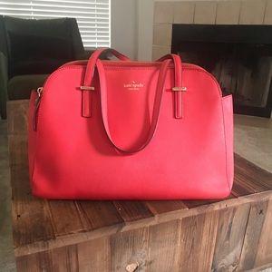 Red orange late Spade purse
